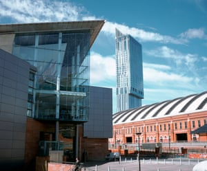 The Bridgewater Hall, Beetham Tower and G-Mex centre.
