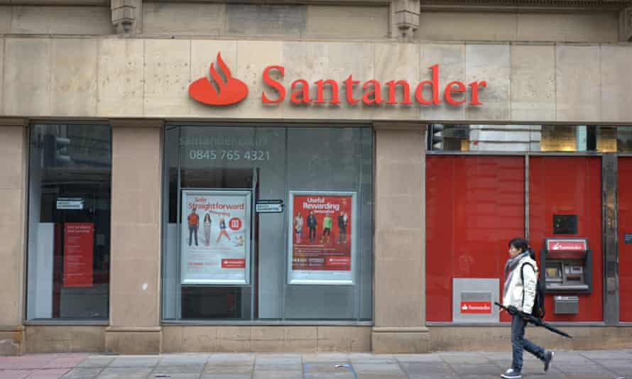 A Santander branch in Salford, Greater Manchester