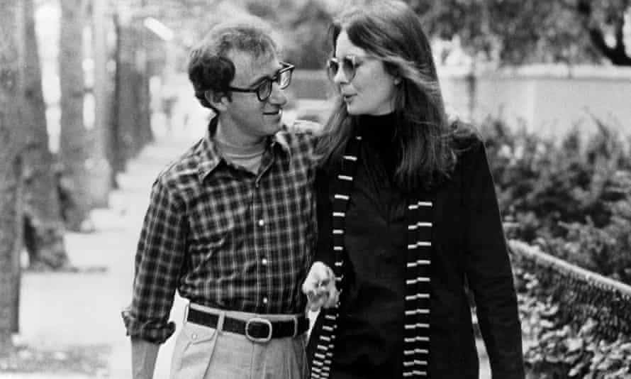 Diane Keaton with Woody Allen in Annie Hall.
