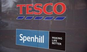 Tesco Spenhill sign