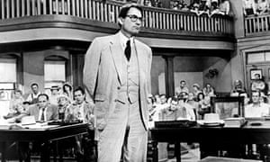 Gregory Peck in To Kill a Mockingbird.
