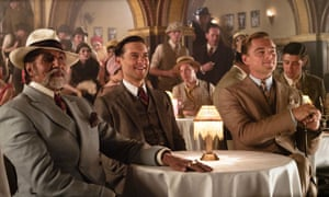 With Tobey Maguire and Leonardo Dicaprio in The Great Gatsby.