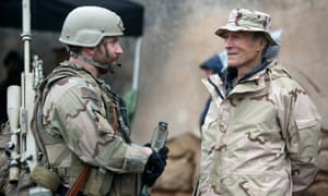 Bradley Cooper and Clint Eastwood shooting American Sniper