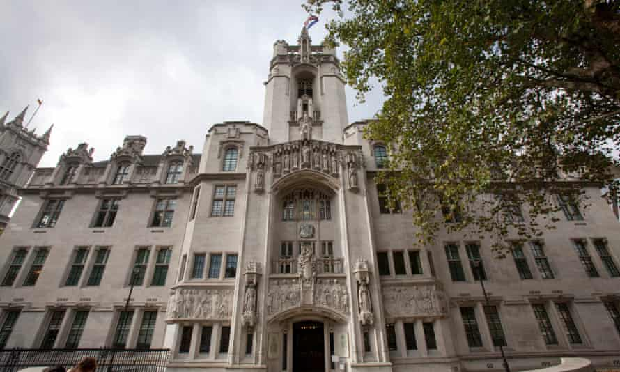 The supreme court in Parliament Square, London.
