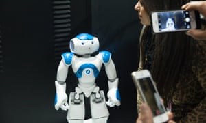 Nao the humanoid robot at Nano Tech 2015 in Tokyo.