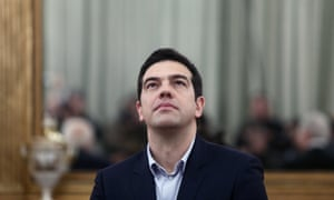Greek prime minister Alexis Tsipras during the swearing-in ceremony of the new government