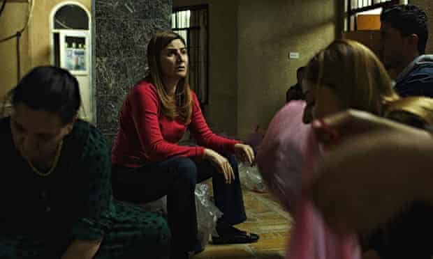Family members and Vian Dakhil (centre)