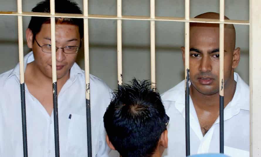 Andrew Chan and Myuran Sukumaran in a cell in Denpasar, Bali.