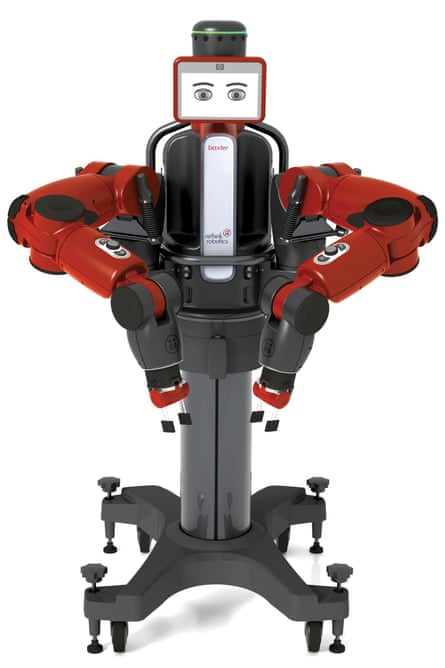 Baxter is created by Rethink robotics and does manual tasks in factories. Needs a human trainer.