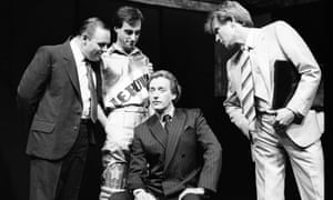 Nighy in 1985's Pravda with Anthony Hopkins, Christopher Baines and Peter Blythe