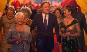 Nighy in the Second Best Exotic Marigold Hotel with Judi Dench and Celia Imrie