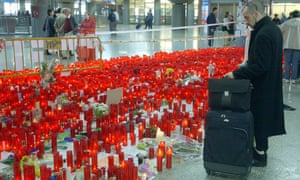 A shrine at Atocha railway station in Madrid after the 2004 train bombings