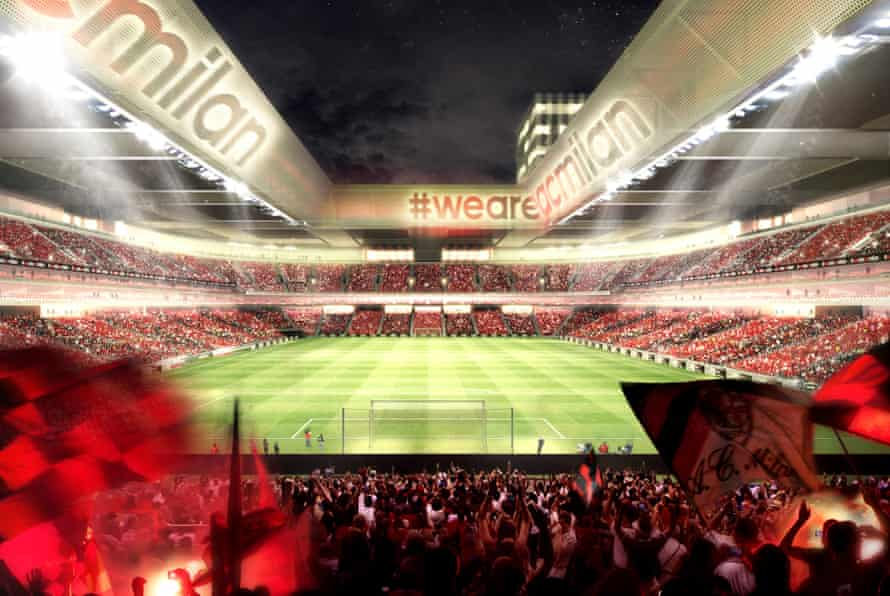 AC Milan proposed new stadium.