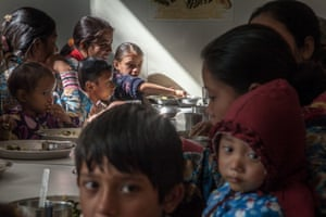 Mothers and children lunch Nepal Youth Foundation's Nutritional Rehabilitation Home