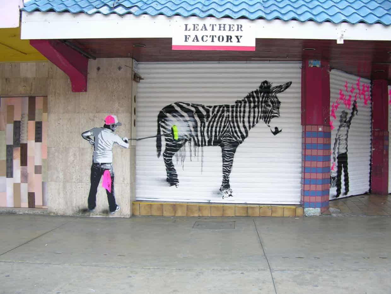 Zebra mural