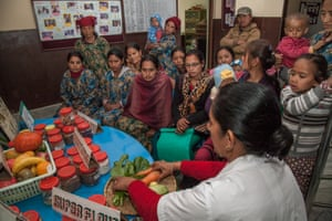 Mothers at Nepal nutritional rehabilitation home