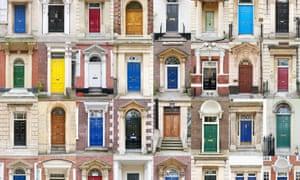 Front doors in Britain