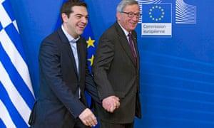 Jean-Claude Juncker Alexis Tsipras