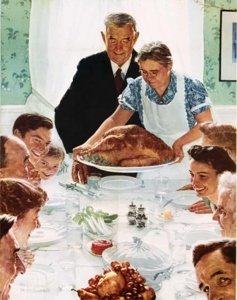 Freedom from Want poster by Norman Rockwell.