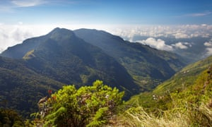 View over World's End in Horton Plains National Park.