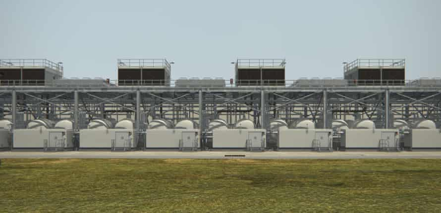 'Cooling towers, pumps and blank walls' … the Google data centre in Oklahoma.