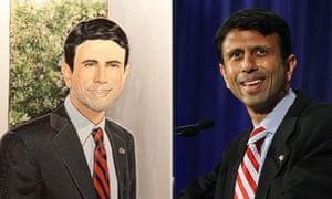 Louisiana governor Bobby Jindal and a dodgy portrait painted by a constituent
