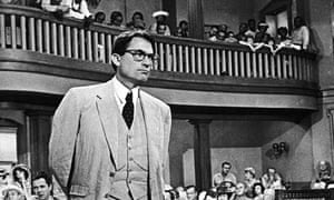 Gregory Peck as Atticus Finch in the 1962 film adaptation of To Kill a Mockingbird.