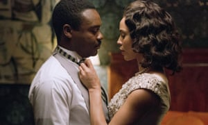 Passionate portrait … David Oyelowo as Martin Luther King and and Carmen Ejogo as Coretta Scott King.