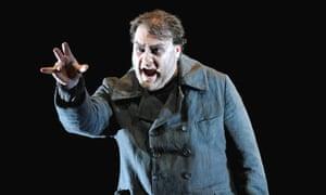 Bryn Terfel  as the Dutchman in Der Fliegende Hollander, Royal Opera House.