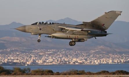 RAF Tornado warplane