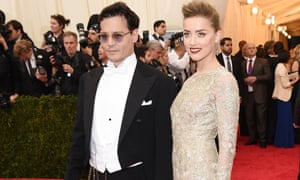 Johnny Depp and Amber Heard in New York, May 2014.