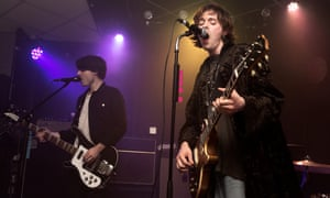 Samuel and Harrison on stage at Brudenell Social Club in Leeds