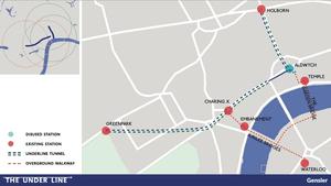 London Underline map