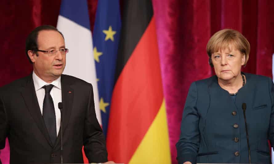 Merkel and Hollande in Paris in 2013.