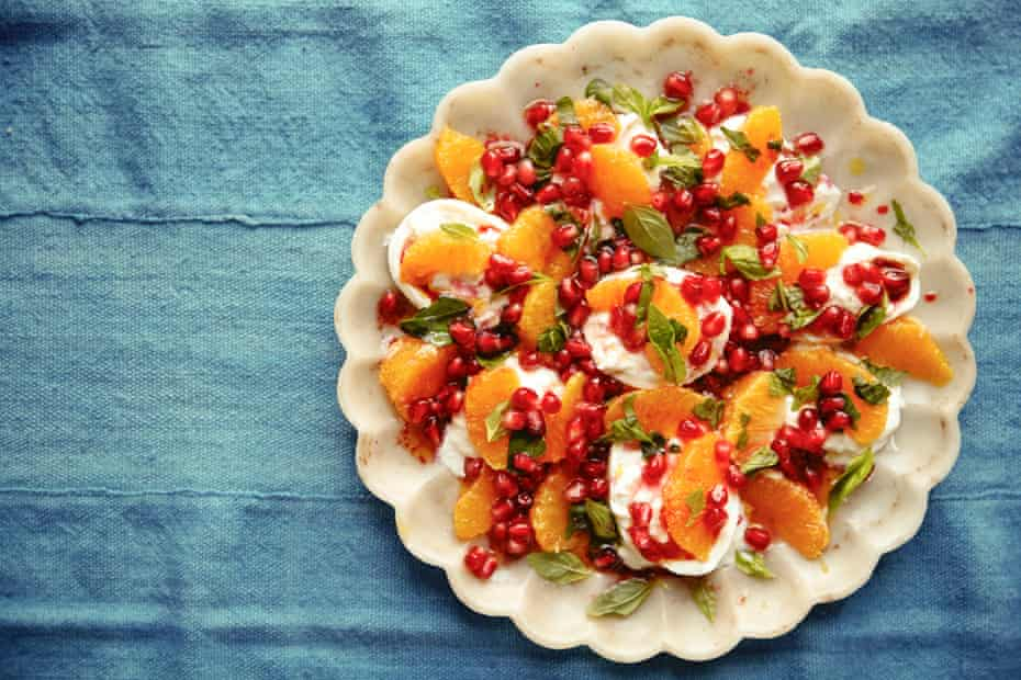 Pomegranate and squash salad.