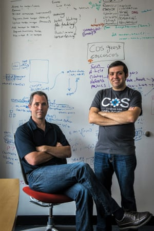 Brian Nosek and Jeff Spies are co-founders of the Center for Open Science