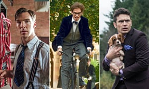 Screenshots from films The Imitation Game, The Theory of Everything and The Interview