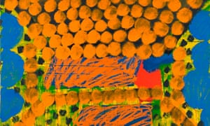A detail from Howard Hodgkin's In the Studio of Jamini Roy, 1976-79. Courtesy of the Government Art Collection