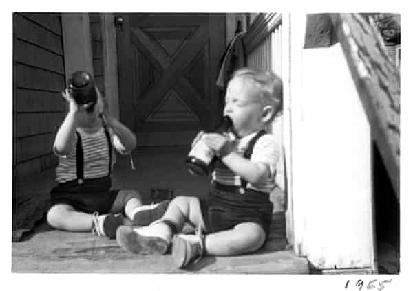 Scott and Mark kelly on the porch in 1965.