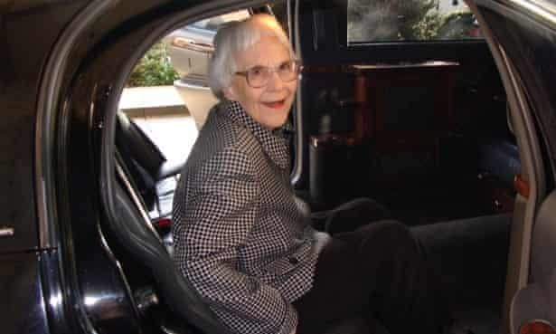 'Alive and kicking and happy as hell' … Harper Lee
