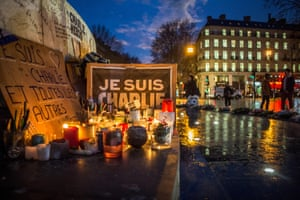 A commemoration in Paris for those killed during last month's attack on Charlie Hebdo.