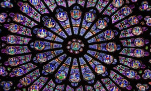 stained glass notre dame