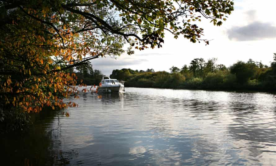 A boat on the River Yare in the Norfolk Broads