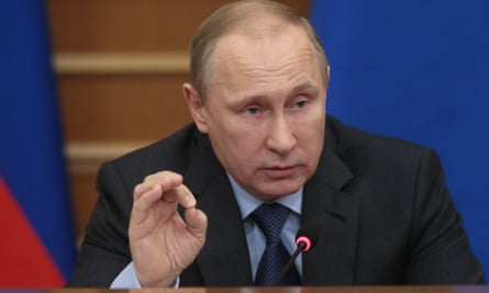 Russian president Vladimir Putin in Moscow in January.