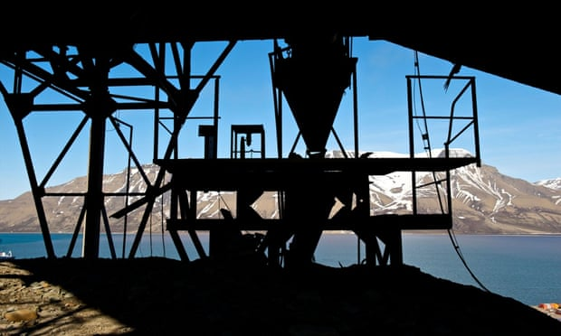 Part of a mining platform at a disused coal mine in Spitsbergen, Svalbard, Norway. The country's £556bn sovereign wealth fund, GPFG, has published its divestment details in its first report on responsible investing. Photograph: Alamy