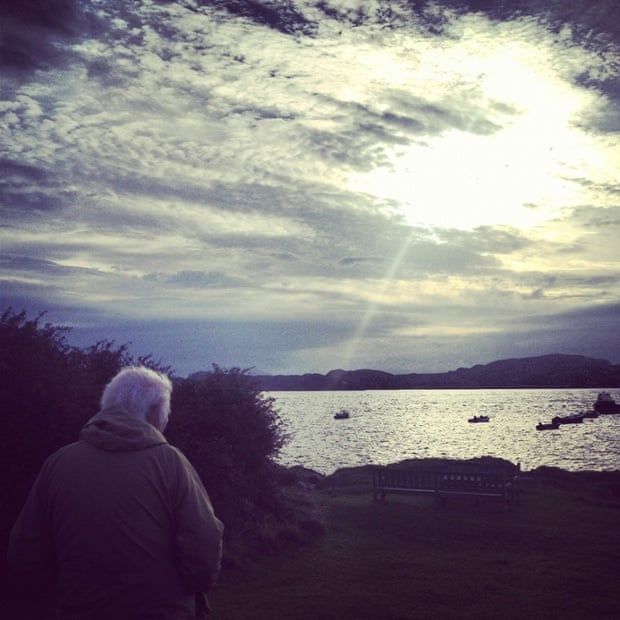 Seamus Heaney on the Isle of Iona, summer 2012.