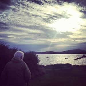 Seamus Heaney on theIsleof Iona, summer 2012.