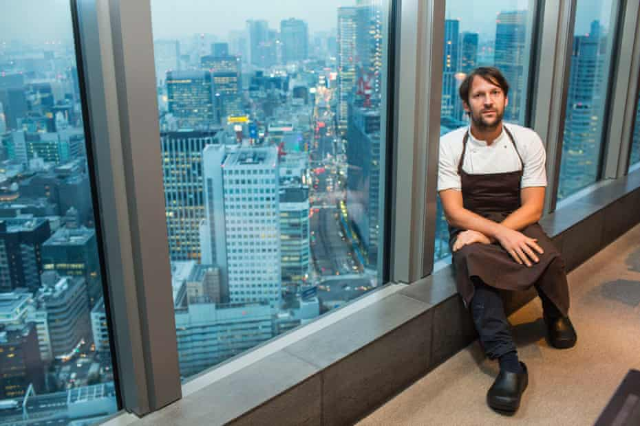 Chef René Redzepi at Noma in Mandarin Oriental Tokyo.
