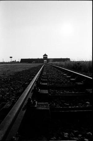 The gatehouse to Auschwitz-Birkenau concentration camp.