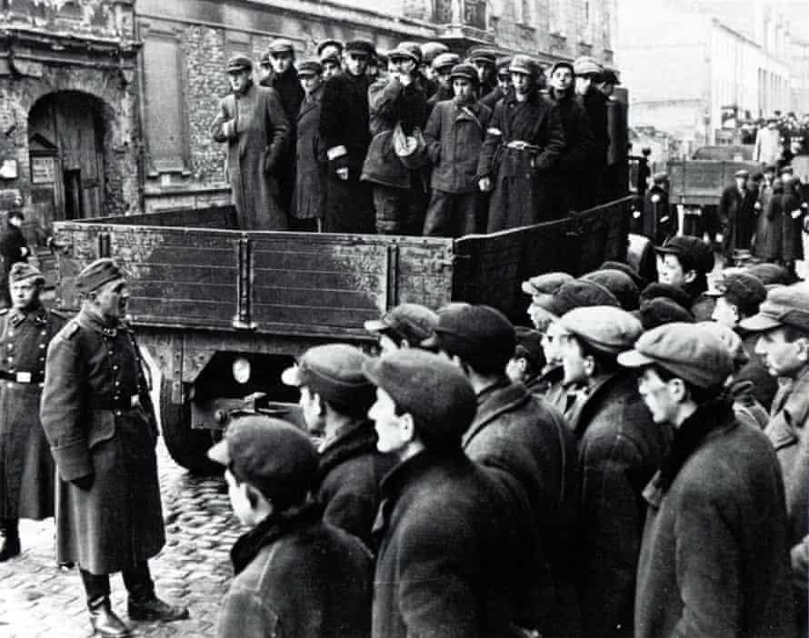 The Warsaw ghetto in Nazi-occupied Poland.